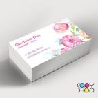 Шаблон визитки для флориста