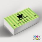 Шаблон визитки для кофейни