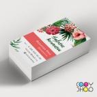 Шаблон визитки для цветочной лавки