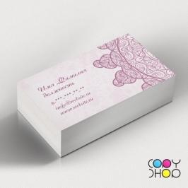 Шаблон визитки для творческих профессий