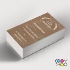 Шаблон визитки пекарня