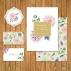 Свадебная открытка с цветами №1
